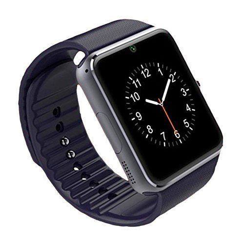 smartwatch gt08 mit sim und tf slot black preisparadies. Black Bedroom Furniture Sets. Home Design Ideas