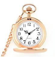 Taschenuhr bronce mit Kette und Clip