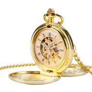 mechanische Taschenuhr 2-fach Gold